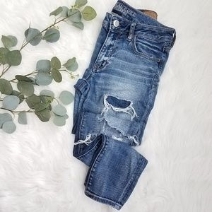 AEO Distressed SUPER STRETCH Skinny Jeans Jeggings